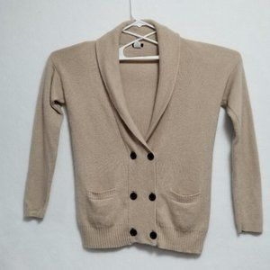 J Crew Cashmere Blend Double Breasted Cardigan